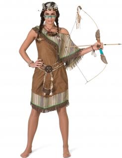 Indianerin-Kostüm für Damen Deluxekostüm Faschingskostüm braun