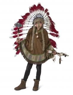 Indianer-Poncho für Kinder Faschings-Accessoire braun