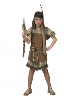 Indianerin-Kostüm für Mädchen Faschingskostüm braun