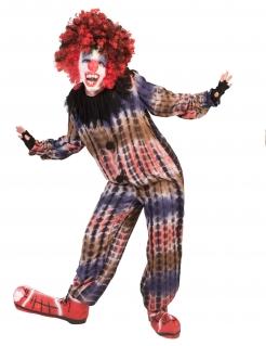Gruseliger Clown Kostüm für Jungen Fasching bunt