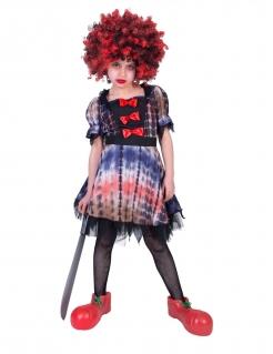 Schauriges Clown-Kostüm für Kinder Halloweenkostüm bunt