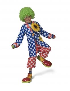 Clown-Mantel für Kinder Faschingskostüm blau-rot-weiss