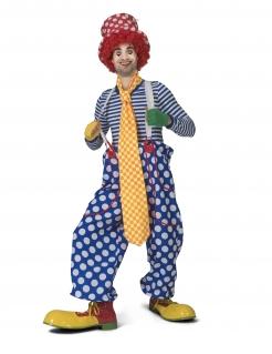 komisch lange Clown-Krawatte Karneval-Accessoire gelb-orange