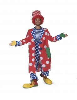 Clown-Mantel für Herren mit Punkten Faschingskostüm bunt