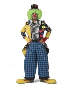 Clown-Frack für Herren mit Fliege Faschingskostüm bunt