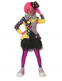 Clown-Jacke für Damen Faschingskostüm bunt