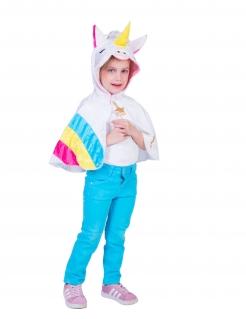 Einhorn-Poncho für Kinder Faschings-Accessoire bunt