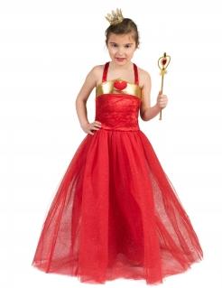 Prinzessin der Herzen-Kostüm für Mädchen Faschingskostüm rot-gold