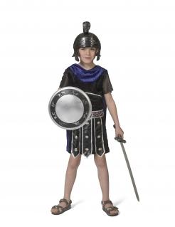 Römisches Krieger-Kostüm für Jungen Faschingskostüm schwarz-blau