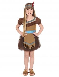 Indianer-Kostüm für Mädchen braun-beige