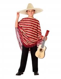 Mexikaner-Kostüm für Kinder rot-braun
