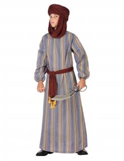 Arabischer Prinz-Kostüm für Jungen Faschingskostüm braun-blau