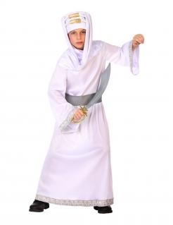 Wüstenkrieger-Kostüm für Jungen Faschingskostüm weiss-silber