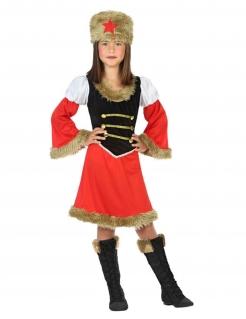 Russisches-Mädchen-Kostüm rot-braun-schwarz