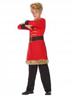 Russisches Jungen-Kostüm rot-braun-schwarz