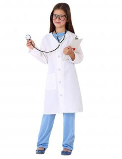 Ärztin-Kostüm für Mädchen Faschingskostüm blau-weiss