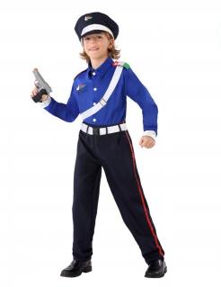 Polizei-Kostüm für Kinder Carabinieri-Polizist blau-weiss