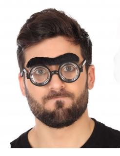 Mono-Braue witziges Accessoire schwarz