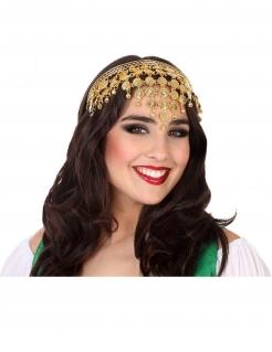 Orientalisches Haarband Schmuck für Damen Accessoire Fasching gold