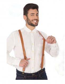 Kostüm-Hosenträger aus Kunstleder braun
