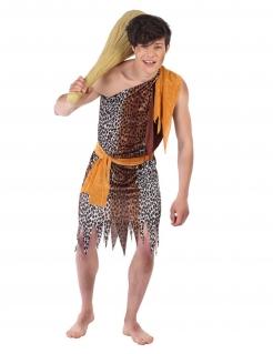 Präshistorisches Kostüm für Jungen Faschingskostüm braun-orange
