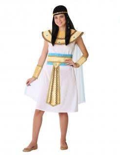 Ägyptische Herrscherin Kostüm für Jugendliche Mädchenkostüm weiss-gold