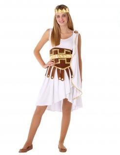 Antike-Kostüm für Jugendliche Göttinnen-Kostüm Fasching weiss-braun-gold
