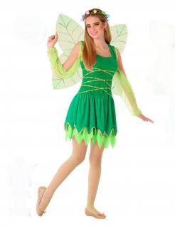 Fee-Kostüm für Jugendliche Mädchenkostüm Fasching grün