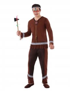 Indianer-Kostüm für Jugendliche Jungen-Kostüm Fasching braun