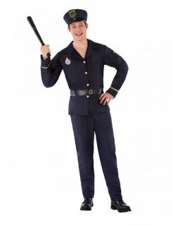 Polizei-Kostüm für Jugendliche Teenager-Kostüm blau