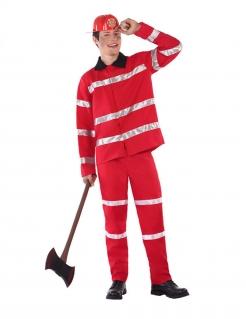 Feuerwehrmann-Kostüm für Jugendliche Teenager-Kostüm rot
