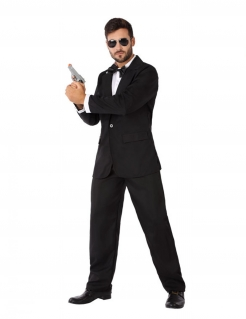 Spion-Kostüm für Herren Geheimagent-Kostüm schwarz-weiss