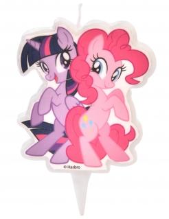My Little Pony™-Kerze Pinkie Pie und Twilight Sparkle Kuchendeko violett-pink 6,5 cm