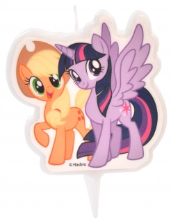 My Little Pony™-Kerze Applejack und Twilight Sparkle Kuchendeko bunt 6,5 cm