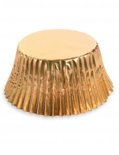 Glänzende Cupcake-Förmchen 50 Stück goldfarben 7 cm