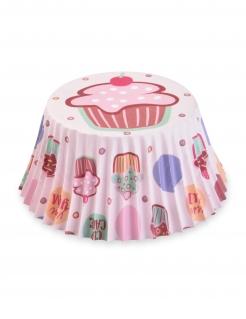 Cupcake-Förmchen Kuchen 50 Stück bunt 7 cm