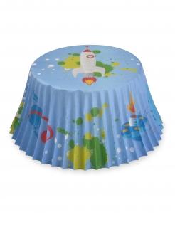 Cupcake-Förmchen Weltall 50 Stück bunt 7 cm