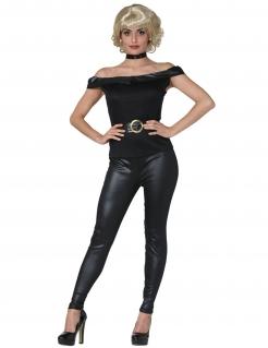 50er Jahre-Kostüm für Damen Film-Kostüm Fasching schwarz