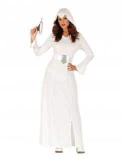 Weltall-Prinzessin Kostüm für Damen Faschingskostüm weiss-silber