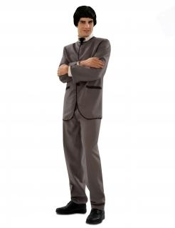 Englischer Sänger Kostüm für Herren Faschingskostüm grau-schwarz