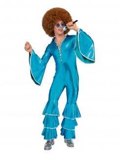 Disco-Kostüm für Herren Faschingskostüm blau