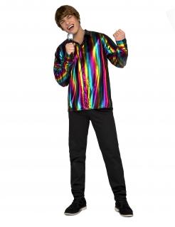 Disco-Hemd für Herren Faschingskostüm bunt