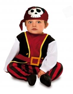 Piraten-Kostüm für Babys Faschingskostüm rot-schwarz-weiss