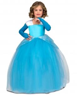 Prinzessinnen-Kostüm für Mädchen Märchenkostüm blau