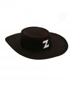 Rächer-Hut für Kinder maskierter Rächer Faschingsaccessoire schwarz