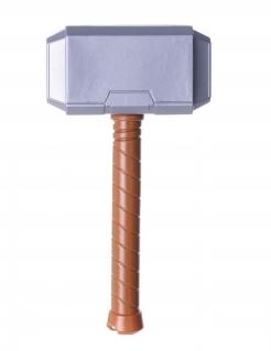 Superhelden-Hammer für Kinder Kostüm-Accessoire grau-braun