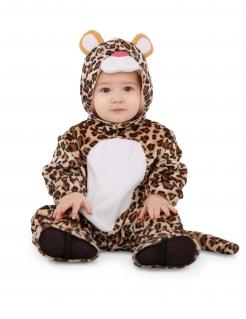 Leoparden-Kostüm für Babys Faschingskostüm braun-weiss