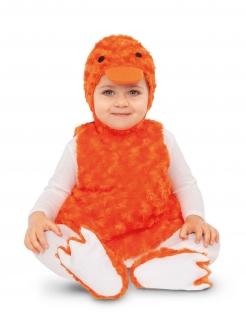 Enten-Kostüm für Kleinkinder Faschingskostüm orange