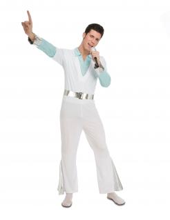 70er-Jahre-Kostüm für Herren Disco-Kostüm weiss-blau-silber