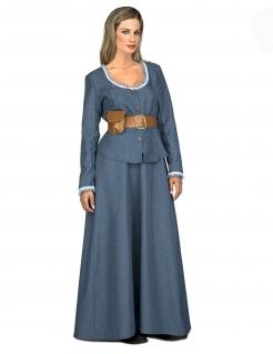 Wilder-Westen-Kostüm für Damen blau